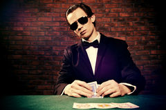 Casino cards game Royalty Free Stock Images