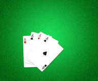 Casino Cards Background Green Texture. Casino Cards on Green Background Texture Royalty Free Stock Photos