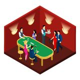 Casino And Cards Isometric Illustration Stock Images