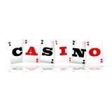 Casino Cards Logo. Playing cards spelling Casino logo vector illustration Stock Image