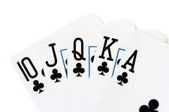 Casino Cards, Royal Flush Royalty Free Stock Image