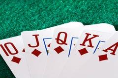 Casino cards, royal flush Stock Photography