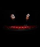 Casino - cartões - moedas - jogando Imagens de Stock