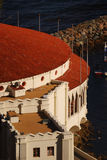 Casino on Catalina Island. Looking down on the casino in Avalon royalty free stock photo