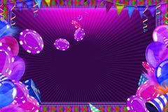 Casino Celebration background stock illustration