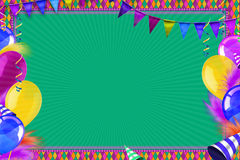Casino Celebration background. Celebration background with carnival balloons and objects Royalty Free Stock Image