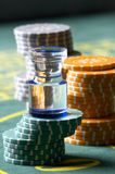 Casino chesspieces. Games, Prize, business a still-life Stock Images