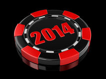 Casino Chip 2014 (clipping Path Included) Royalty Free Stock Image