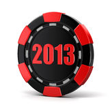 Casino chip 2013 (clipping path included). Casino chip 2013. Image with clipping path Stock Images