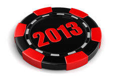 Casino chip 2013 (clipping path included) Stock Photos