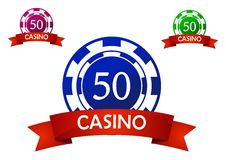 Casino chip emblem Stock Photo