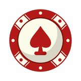 Casino chip game with ace. Vector illustration graphic design royalty free illustration