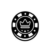 Casino chip isolated vector. Poker chips for casino games. Vector illustration Royalty Free Stock Photography