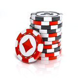 Casino chip stack Stock Photo
