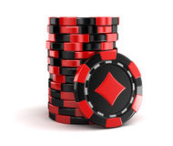 Casino chip stacks Royalty Free Stock Photography