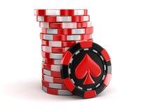 Casino chip stacks Stock Photo