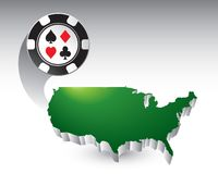 Casino chip by united states icon Stock Image