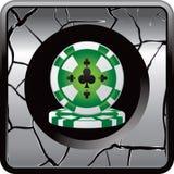 Casino chip web button Royalty Free Stock Photo