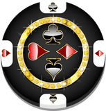 Casino chip. For websites and other places vector illustration