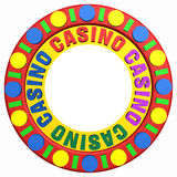 Casino Chip With Place For Your Logo Stock Images