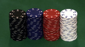 Casino Chips. Stacks Stock Photography