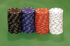 Casino Chips. Stacks Royalty Free Stock Photo