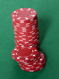 Casino Chips. Stacks Royalty Free Stock Photography