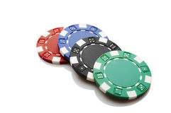 Casino chips Royalty Free Stock Image