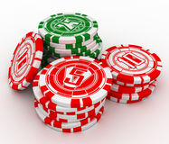 Casino chips. Isolated on a white background stock illustration
