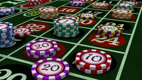Casino chips. Made in 3D Studio Max royalty free illustration