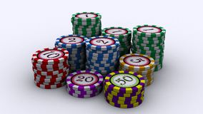 Casino chips. Made in 3D Studio Max vector illustration