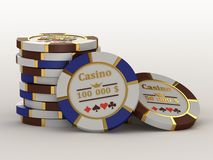 Casino chips. Royalty Free Stock Photo
