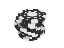Casino chips. Stack isolated on white background Royalty Free Stock Images