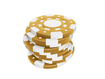 Casino chips. Stack isolated on white background Stock Images