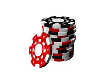 Casino chips. Stack isolated on white background Royalty Free Stock Photos