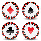Casino chips Royalty Free Stock Images