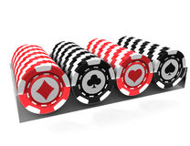Casino chips. Over white background Royalty Free Stock Image
