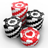 Casino chips. Over white background Royalty Free Stock Photo