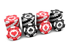 Casino chips. Over white background Stock Image