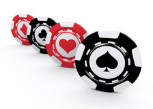 Casino chips. Over white background Royalty Free Stock Photography