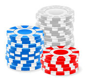 Casino chips. Stack on a white background stock illustration