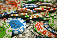 Casino chips. Royalty Free Stock Photos
