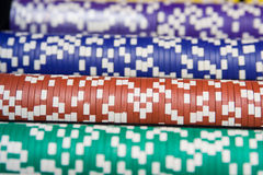 Casino chips all colors Royalty Free Stock Photos