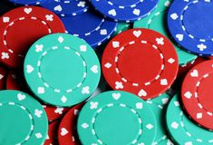Casino chips as a background Stock Image