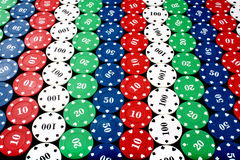 Casino Chips Background Stock Photography