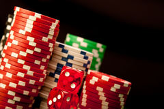 Casino Chips background Stock Photos