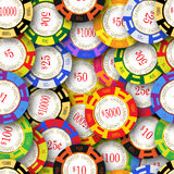 Casino Chips Background Stock Photo