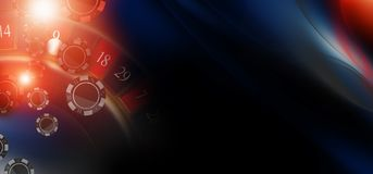 Casino Chips Banner de roulette Photo libre de droits