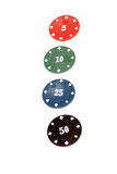 Casino chips Stock Images