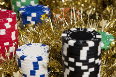 Casino chips bonus Royalty Free Stock Image